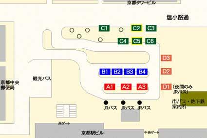 京都駅から京都市営バス