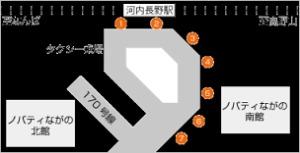 河内長野駅 バス乗り場
