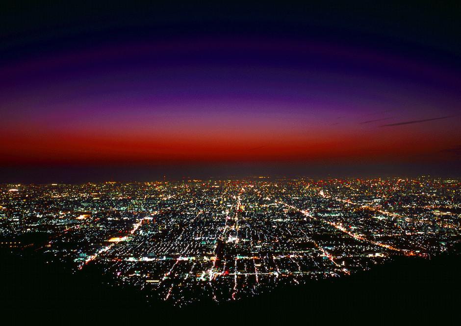 生駒山上遊園地の夜景