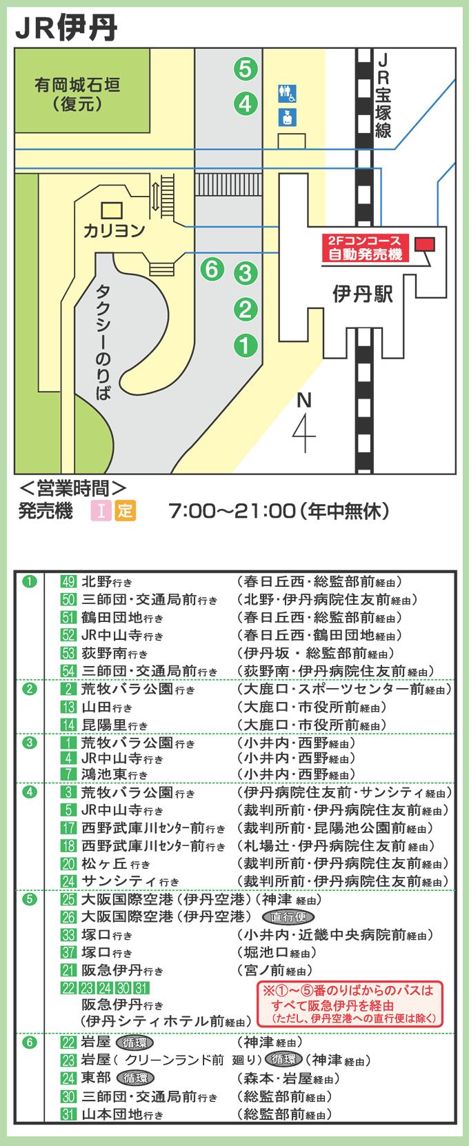 JR伊丹駅から伊丹市バス