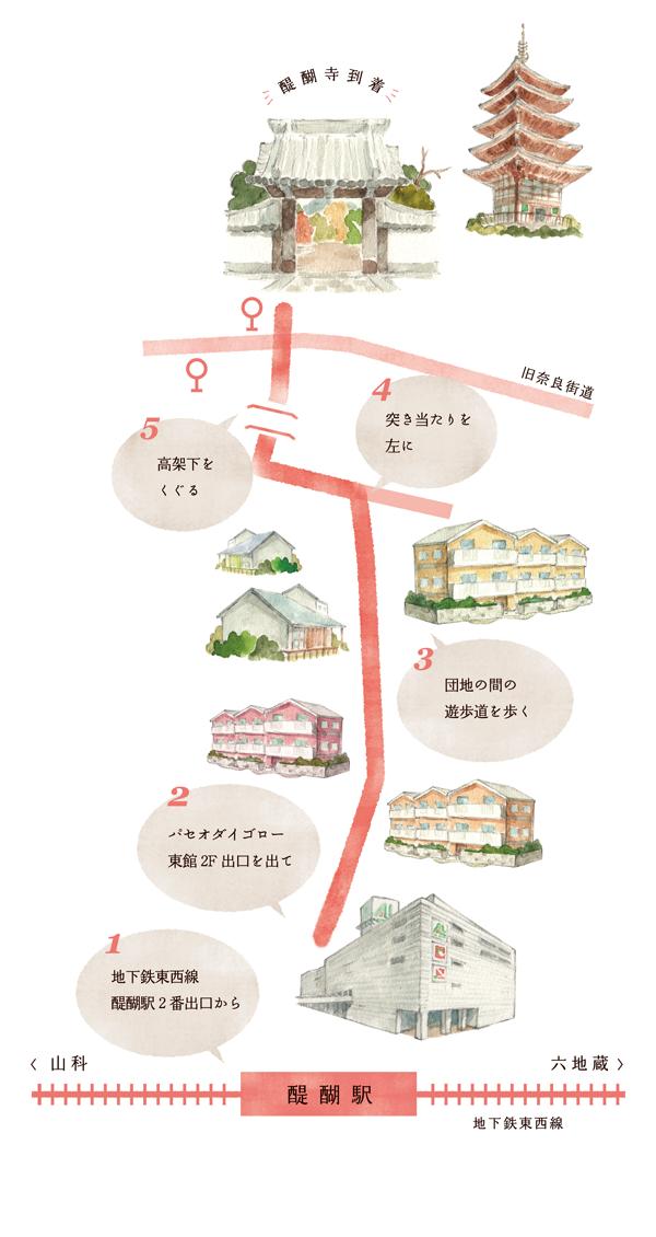醍醐駅から醍醐寺への行き方